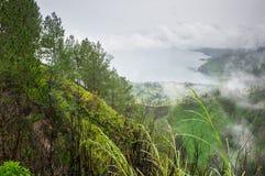 Vue de lac Toba Photographie stock libre de droits