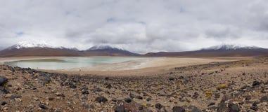 Vue de Laguna Verde et les crêtes des Andes image libre de droits