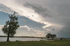 Vue de Lakeside Photo libre de droits