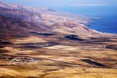 Vue de Lanzarote le dessus en Espagne photo stock