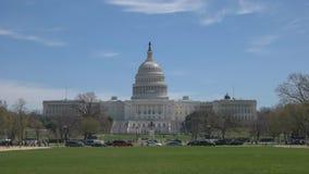 Vue de large de matin du côté Ouest du bâtiment de capitol à Washington d C image stock
