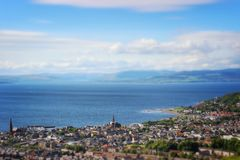Vue de Largs Photographie stock