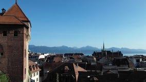 Vue de Lausanne Images stock