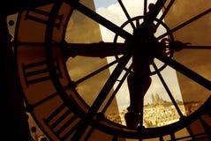 Vue de le Louvre dans la sépia photo libre de droits