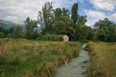 Vue de Le Marcite de Norcia en Ombrie, Italie Photos libres de droits