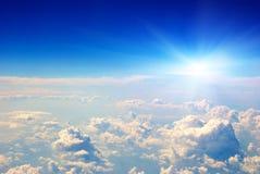 vue de lever de soleil d'air photos stock