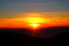 Vue de lever de soleil de Thaïlande photos stock