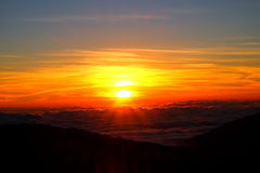 Vue de lever de soleil de Thaïlande photos libres de droits