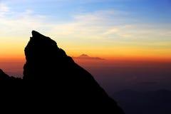 vue de lever de soleil du haut de bâti Agung Image stock