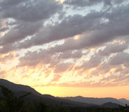 Vue de lever de soleil en vallée de Vipava, Slovénie Photo stock