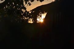 Vue de lever de soleil mystique, Bohême du sud Images stock