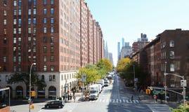 Vue de ligne élevée à la 23ème rue et à la 10ème avenue Images stock