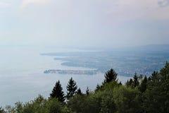 Vue de Lindau et de Lac de Constance de Pfander, Bregenz photos stock