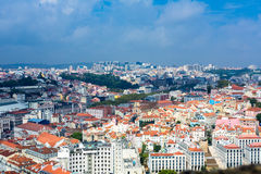 Vue de Lisbonne Images libres de droits
