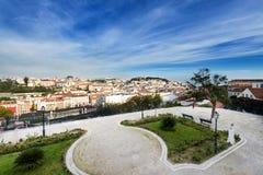 Vue de Lisbonne du centre, Portugal Photo stock