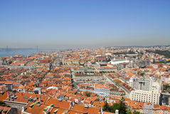 Vue de Lisbonne du château de la gorge de S. Photographie stock libre de droits