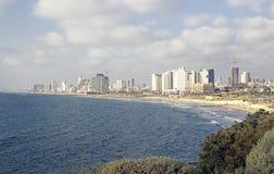 Vue de littoral de TLV de Tel Aviv Photos libres de droits
