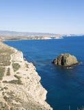 Vue de littoral entre San Juan et Aguilas Photos stock