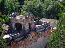 Vue de Lluch de monastère du point supérieur Majorca Photos libres de droits