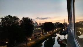 Vue de logement d'étudiant de Rotterdam Photo libre de droits