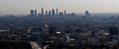 Vue de Los Angeles Photo stock