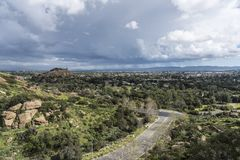 Vue de Los Angeles Stoney Point Valley Storm Scenic photographie stock