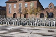 Vue de louer des vélos image libre de droits