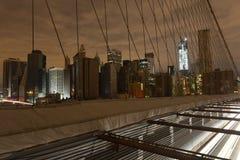 Vue de Lower Manhattan après coupure électrique. Images libres de droits