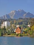Vue de Luzerne (1), Luzerne, Suisse Photographie stock libre de droits