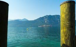 Vue de luzerne de lac du village de Weggis en Suisse Image stock