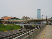 Vue de métro, Lima photographie stock