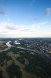 Vue de Magdebourg et de lacs Salbker Photographie stock