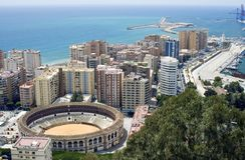 Vue de Malaga Photographie stock libre de droits