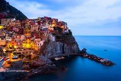 Vue de Manarola, Cinque Terre, Italie Images libres de droits