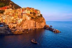 Vue de Manarola, Cinque Terre, Italie Image stock