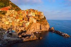 Vue de Manarola, Cinque Terre, Italie Photo stock