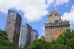 Vue de Manhattan de stationnement de batterie Photographie stock libre de droits