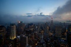 Vue de Manhattan du centre de Rockeffeler - dessus de la roche photo stock