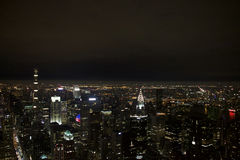 Vue de Manhattan la nuit photo libre de droits