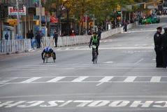 Vue de marathon de 2014 NYC sur la 1ère avenue Photos stock