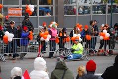 Vue de marathon de 2014 NYC sur la 1ère avenue Photographie stock libre de droits
