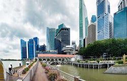 Vue de Marina Bay vue du pilier, Singapour Photos libres de droits