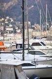 Vue de marina de Como Image de couleur Images stock