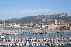 Vue de marina de Toulon Image stock