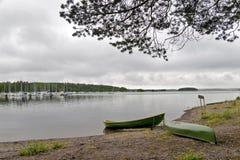 Vue de marina en Finlande Imatra Images libres de droits
