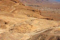 Vue de Masada, Israël photos libres de droits