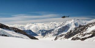 Vue de massif d'Eiger, de Monch et de Jungfrau, Alpes suisses, Suisse, l'Europe Photographie stock