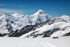 Vue de massif d'Eiger, de Monch et de Jungfrau, Alpes suisses, Suisse, l'Europe Photos stock
