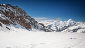 Vue de massif d'Eiger, de Monch et de Jungfrau, Alpes suisses, Suisse, l'Europe Photographie stock libre de droits