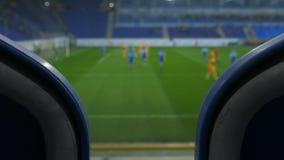 Vue de match de football des supports banque de vidéos